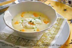 CHEZ SILVIA: Huevo poché, con crema de queso ceniza y un toque cítrico