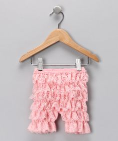 Take a look at this Light Pink Ruffle Shorts - Infant by Baby Lace Rompers on #zulily today!--really makes me want to have a girl :)