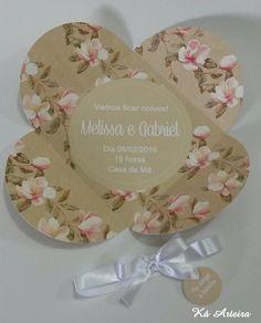Convite de noivado floral siena