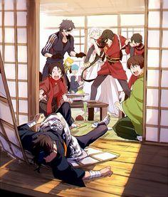 Touken Ranbu Characters, Anime Characters, Manga Anime, Anime Art, Samurai, Character Art, Character Design, Sengoku Basara, Handsome Anime Guys