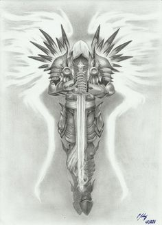 Tyrael - by grace of god by LeyuArt.Gods Grace is Sufficient.Never insufficient funding! St. Michael Tattoo, Archangel Michael Tattoo, Warrior Tattoos, Viking Tattoos, Angel Warrior Tattoo, Norse Tattoo, Armor Tattoo, Celtic Tattoos, Angel Tattoo Men