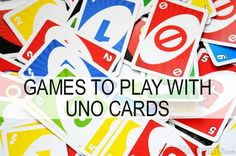 Uno cards are good for more than just games of Uno! Here's some other games you can play with uno cards