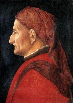 MANTEGNA, Andrea - Portrait of a Man | c. 1450. Panel, 32 x 29 cm. Museo Poldi Pezzoli, Milan.