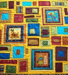 Safari Quilt by BlueElephantStitches, via Flickr