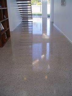 """Polished concrete flooring Carpeting """"Modern Nature"""" - color Hearthstone - Flooring by Shaw the floor! Polished Concrete Flooring, Cement Floors, Concrete Finishes, Fairmont Homes, Floor Design, House Design, Terrazo, Commercial Flooring, Stained Concrete"""