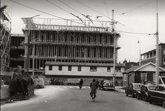 De Oude Ebbingestraat tijdens de bouw van V&D in 1957 - Foto's SERC
