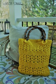There's nothing happier than a fun yellow tote. I often will buy yarn that inspires me because of it's color alone. This was such a purchase! This was a complete impulse by at Joann Fabrics in one of those fabulous clearance bins. I bought 2. Why not? The handles have a different story. I actually bought these handles in a convenience shop in a tiny town in Spain called Hornachuelos in the Andalucia region. I think I paid 1[Read more]