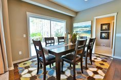 Gallery - Creative Homes. Amazing dining room in one of our homes in the neighborhood Liberty West, located in Stillwater Minnesota.