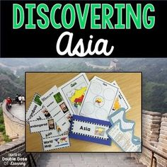Your students will love the variety of this fun, interactive and engaging unit on the continent of Asia. The Asia unit is a comprehensive week long unit that integrates technology, vocabulary, writing, art, reading strategies and more! Students will respond to informational text by answering questions in a student booklet in a variety of formats.