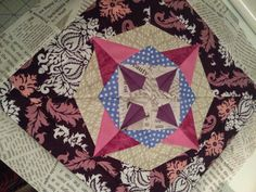 My take on the Marcelle Medallion Sew-Along with CatbirdQuilts Paper Piecing, Border and more borders. Make Me Up, How To Make, Paper Piecing, Stitching, About Me Blog, Quilts, Blanket, Sewing, Paper Scraps