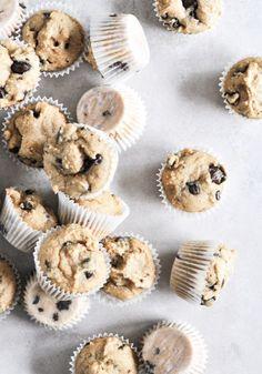 Mini Whole Wheat Chocolate Chip Muffins | howsweeteats.com