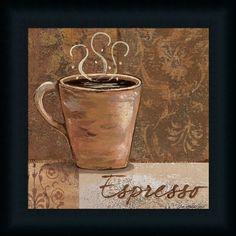 Espresso by Jo Coffee Sign Kitchen Décor Framed Art Print Wall ...