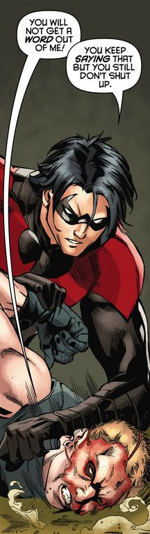 Dick grayson, former robin, now nightwing. Love him.