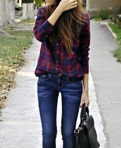 150 best outfits with plaid shirts – page 1 Michael B. Jordan, Baby Overall, Girl Fashion, Fashion Outfits, Look Plus, Simple Shirts, Boyfriend Shirt, Basic Outfits, Casual Winter Outfits