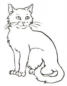 Image Result For Line Realistic Cat Drawings Bilder Katzen Bilder Cat Drawings Image Katzen Li Cat Coloring Book Cat Coloring Page Kittens Coloring
