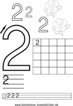 Druckbare aktivitäten Üben Sie das Schreiben der Zahlen 7 ...