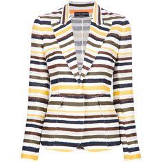 DOLCE & GABBANA multi-coloured stripe blazer ($1,205) ❤ liked on Polyvore