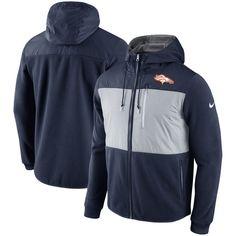 Denver Broncos Nike Champ Drive Performance Full-Zip Hoodie - Navy