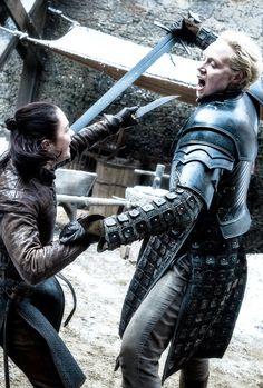 "Brienne of Tarth & Arya Stark in 7.04 ""The Spoils of War"""