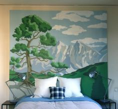 Paint by numbers headboard scenery