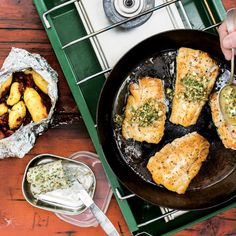 If you're camping, make this your night one dinner, when the fish is freshest.