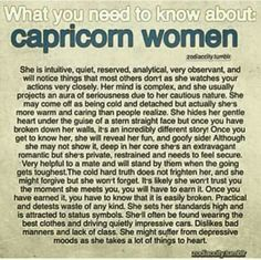 Cap woman = def me Capricorn Season, Capricorn Girl, Capricorn Facts, Capricorn Quotes, Zodiac Signs Capricorn, My Zodiac Sign, Zodiac Quotes, Zodiac Facts, Pisces