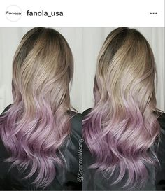 another link (lavender pink) sombre/ombre, i call it damp dip dye, it's like the color wicks up from the ends toward the crown