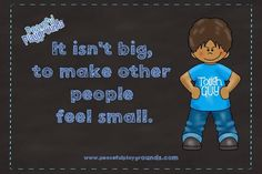 Free Friday Poster from Peaceful Playgrounds. http://blog.peacefulplaygrounds.com/2014/12/anti-bullying-free-friday-poster.html