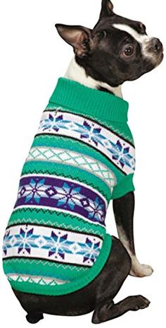 Zack and Zoey Chalet Pet Sweater, Small, Green >>> Review more details here (This is an amazon affiliate link. I may earn commission from it)