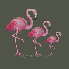 Flamingo 0001  Maschine Stickmotive