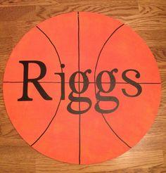 Basketball door hanger
