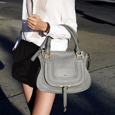Large Marcie Leather Bag by Chloé