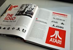 "Affectionately nicknamed ""The Fuji,"" the Atari logo still persists as a lasting part of popular culture.  #Atari #Logo #LogoDesignCafe"