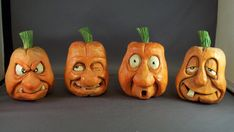 Motley crew by StudioJsculpts on DeviantArt – Schnitzerei Polymer Clay Halloween, Polymer Clay Crafts, Halloween Crafts, Halloween Decorations, Halloween Pumpkins, Whittling Wood, Whittling Projects, Clay Projects, Wood Carving Patterns