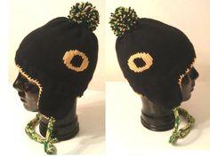 SOLD - Child size University of Oregon ear flap hat