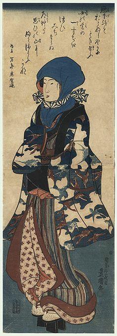 Winter Beauty Kakemono by Toyokuni III/Kunisada (1786 - 1864)
