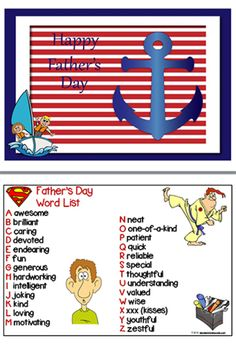 Father's Day | Vocabulary | Writing Prompts