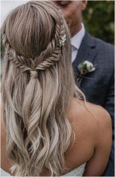 Bridal Hairstyles With Braids, Fishtail Braid Hairstyles, Bridal Hairdo, Wedding Hairstyles For Long Hair, Loose Hairstyles, Wedding Hair And Makeup, Bridal Braids, Flower Hairstyles, Prom Hairstyles Down
