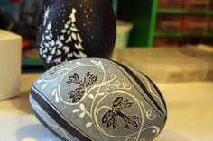Eggshell Carving Art | of Gray carves emu eggs, which she purchases online. The outer shell ...