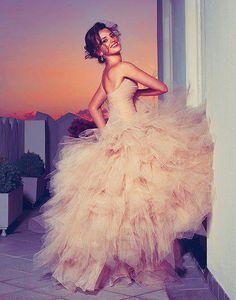 big full tulle dress