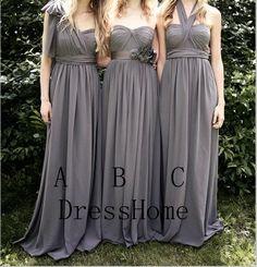 Hey, I found this really awesome Etsy listing at https://www.etsy.com/listing/163352298/bridesmaid-dress-grey-bridesmaid-dress