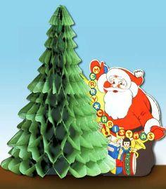 vintage christmas honeycomb decorations santa w christmas tree by beistle old christmas modern
