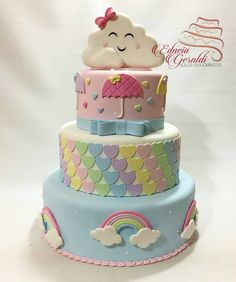 Super Cute Rainbow Cake