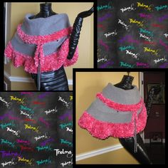 Sweetie pie cute... https://www.etsy.com/listing/175392532/pink-gray-up-cycled-ultra-fringe?ref=shop_home_active_5
