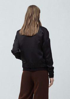 Satin bomber jacket | MANGO
