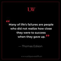 Success is all about patience and perseverance. #UniqueWealth #Patience #Success #ThomasEdison Starting A Business, Patience, Pakistani, Wealth, Success, How To Plan, Unique, Life, Food