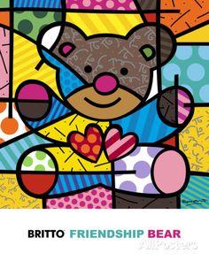 Friendship Bear Art Print