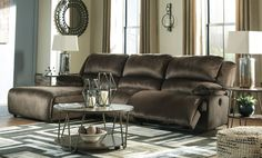 Living Room Microfiber Brown Sofas, Loveseats & Chaises for sale Reclining Sectional With Chaise, 3 Piece Sectional, Living Room Sectional, Armless Chair, Sectional Sofas, Types Of Sofas, Couch Set, Room Dimensions, Power Recliners