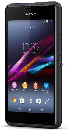 """Sony Xperia E1 - Smartphone libre Android (Pantalla 4"""", cámara 3 Mp, 4 GB, Dual-Core 1.2 GHz, 512 MB RAM), negro [importado]"""