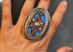Tribal Ring Großer Blauer Laghman-Tribalring 20 von neemaheTribal